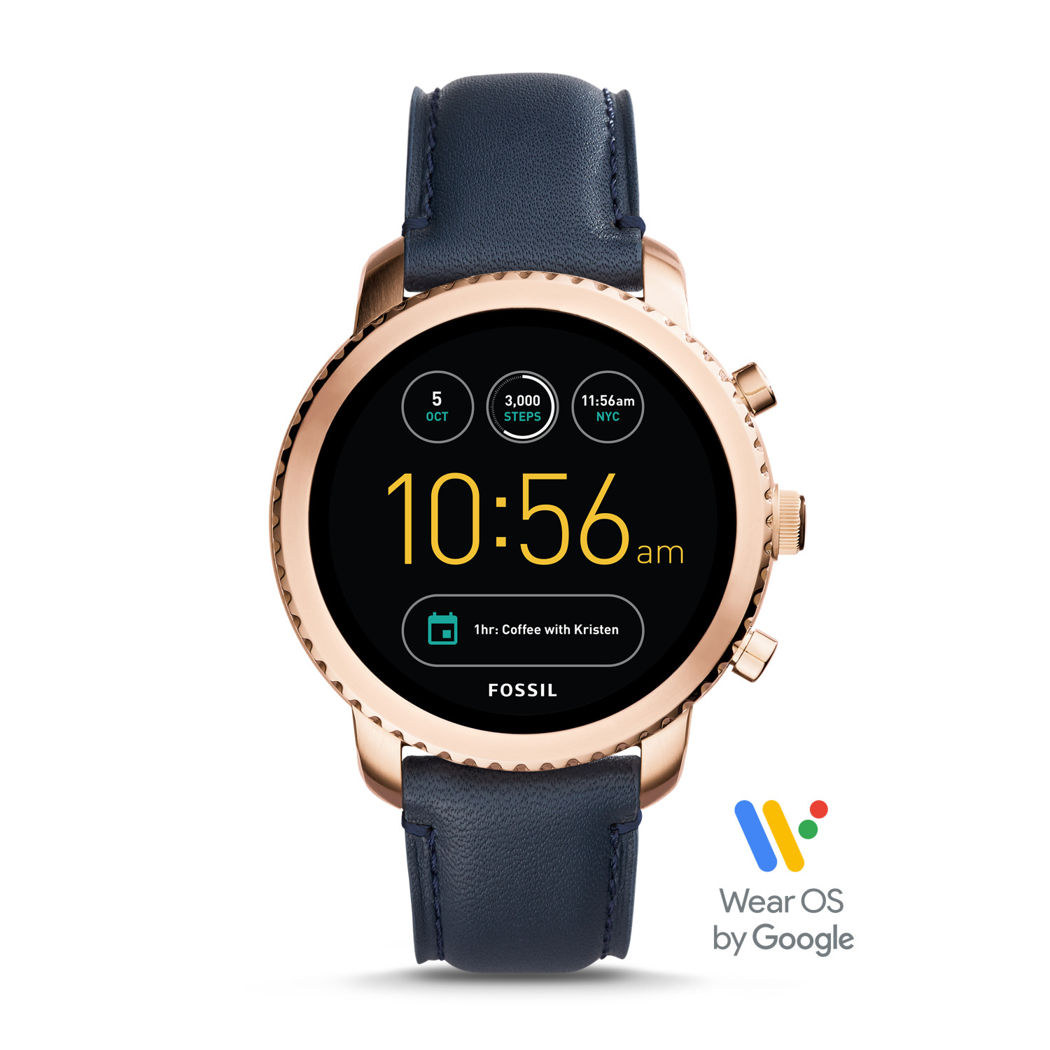 684e3e7447db Gen 3 Smartwatch - Explorist Navy Leather - Fossil
