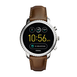 Gen 3 Smartwatch - Q Explorist Brown Leather