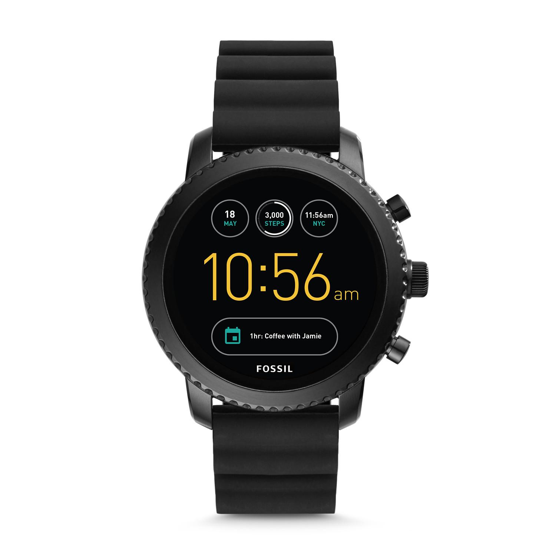 Gen 3 Smartwatch Explorist Black Silicone