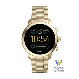 Gen 3 Smartwatch - Q Explorist Gold-Tone Stainless Steel