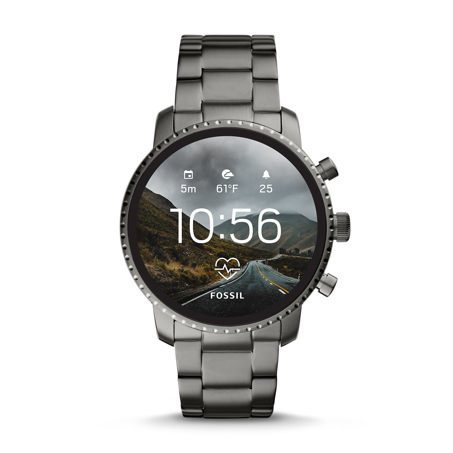 c146627232f1 Gen 4 Smartwatch - Explorist HR Smoke Stainless Steel - Fossil