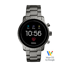 Gen 4 Smartwatch - Q Explorist HR Smoke Stainless Steel