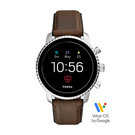 Gen 4 Smartwatch - Q Explorist HR Brown Leather