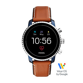 Gen 4 Smartwatch - Q Explorist HR Tan Leather