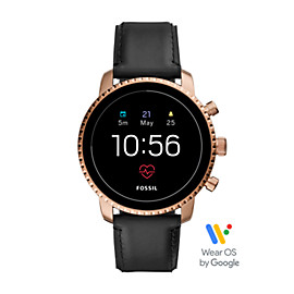 Gen 4 Smartwatch - Q Explorist HR Black Leather