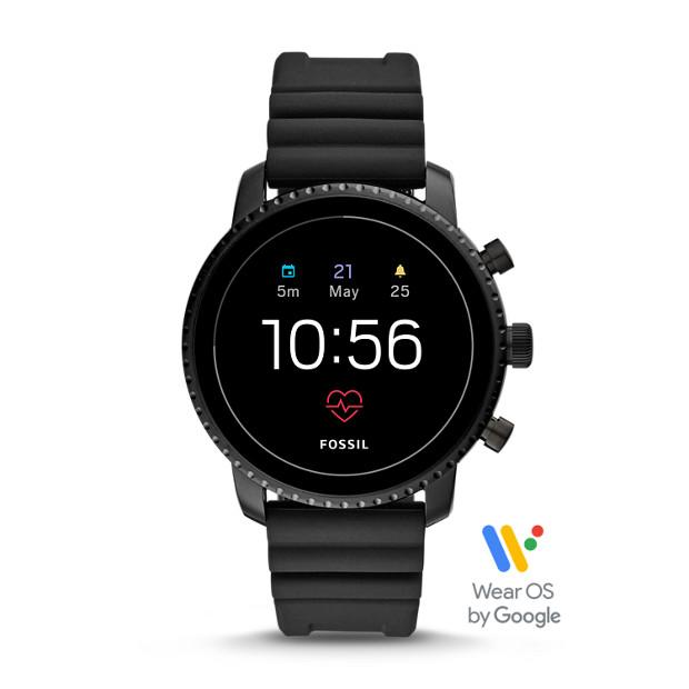 3c8e86e5b7ce Gen 4 Smartwatch - Explorist HR Black Silicone - Fossil