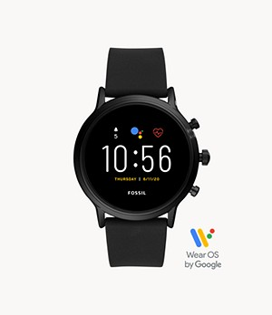 REFURBISHED Gen 5 Smartwatch The Carlyle HR Black Silicone