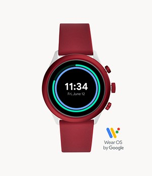 Fossil Sport Smartwatch 43 mm Silikon Rot