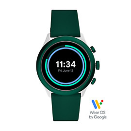 Fossil Sport Smartwatch 43mm Green Silicone