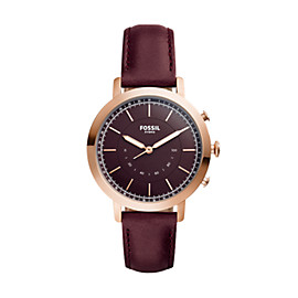 Hybrid Smartwatch - Q Neely Cabernet Leather