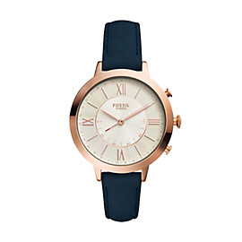 Hybrid Smartwatch - Q Jacqueline Navy Leather