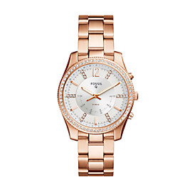 Hybrid Smartwatch - Q Scarlette Rose Gold-Tone Stainless Steel