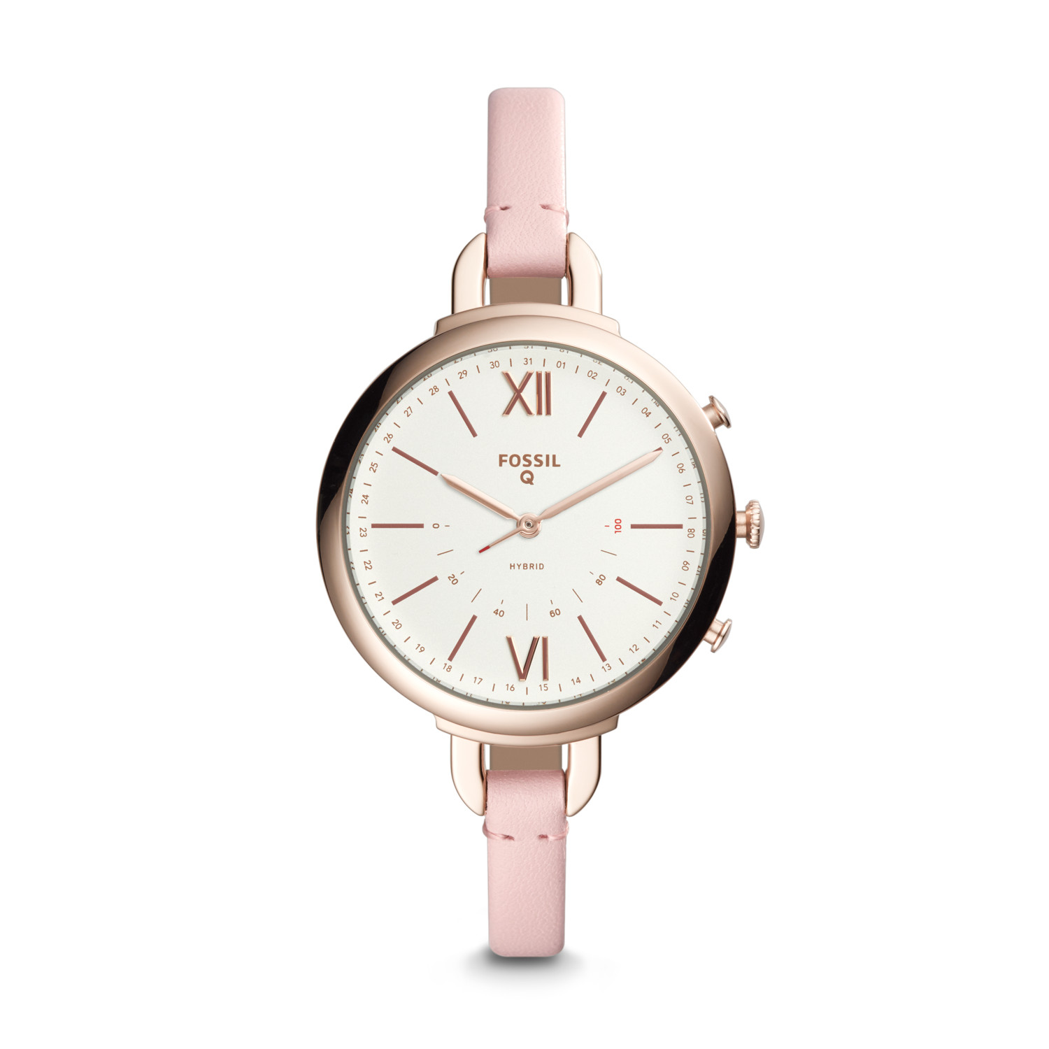 Hybrid Smartwatch Annette Pink Leather Fossil