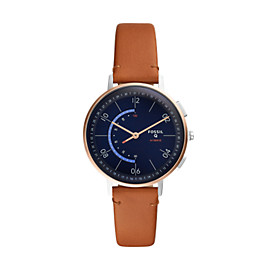 Hybrid Smartwatch - Q Harper Tan Leather