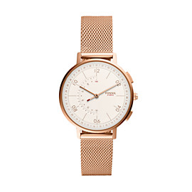 Hybrid Smartwatch - Q Harper Rose Gold-Tone Stainless Steel