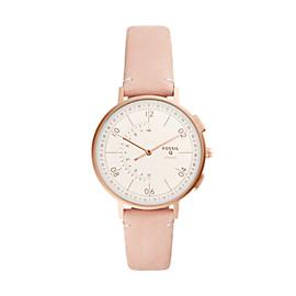 Damen Hybrid Smartwatch Q Harper - Leder - Rosa