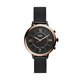 Hybrid Smartwatch – Jacqueline Black Stainless Steel