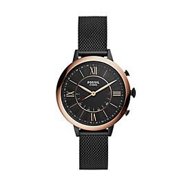 Smartwatch ibrido – Jacqueline con cinturino in acciaio nera