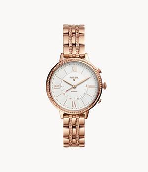 Hybrid Smartwatch Jacqueline Rose Gold-Tone Stainless Steel