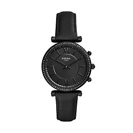 Hybrid Smartwatch - Carlie Black Leather