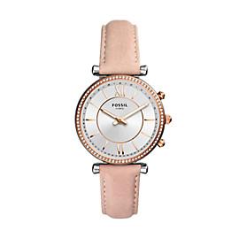 Damen Hybrid Smartwatch Carlie - Leder - Rosa