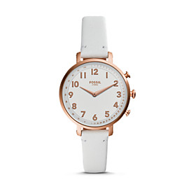 Hybrid Smartwatch - Cameron White Leather