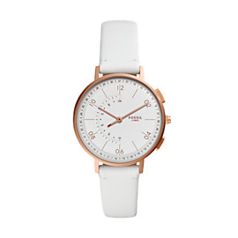 Hybrid Smartwatch - Harper White Leather