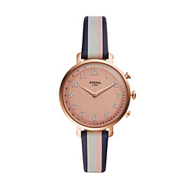 Hybrid Smartwatch - Cameron Pink Stripe Leather