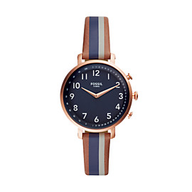 Hybrid Smartwatch - Cameron Luggage Stripe Leather