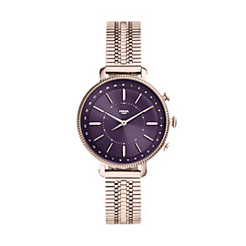 Montre intelligente hybride Cameron en acier inoxydable rose pastel