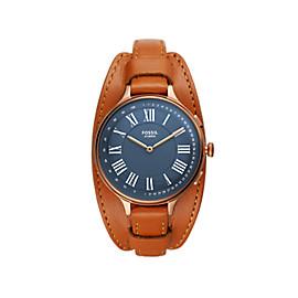 Hybrid Smartwatch Eleanor Tan Leather
