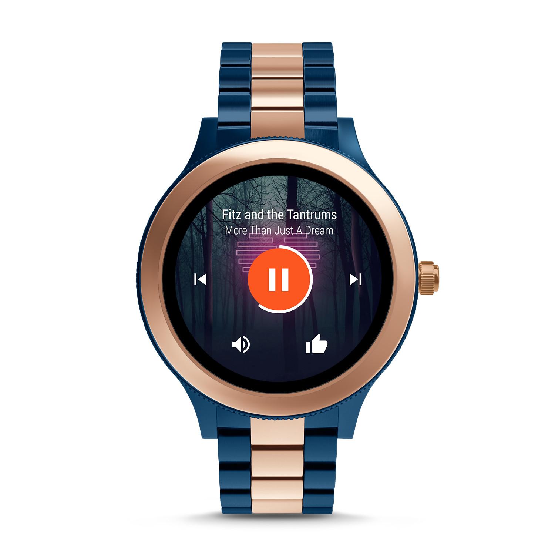 gen 3 smartwatch q venture rose twotone stainless steel