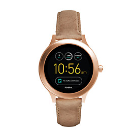 Smartwatch Gen 3 - Q Venture in pelle color sabbia