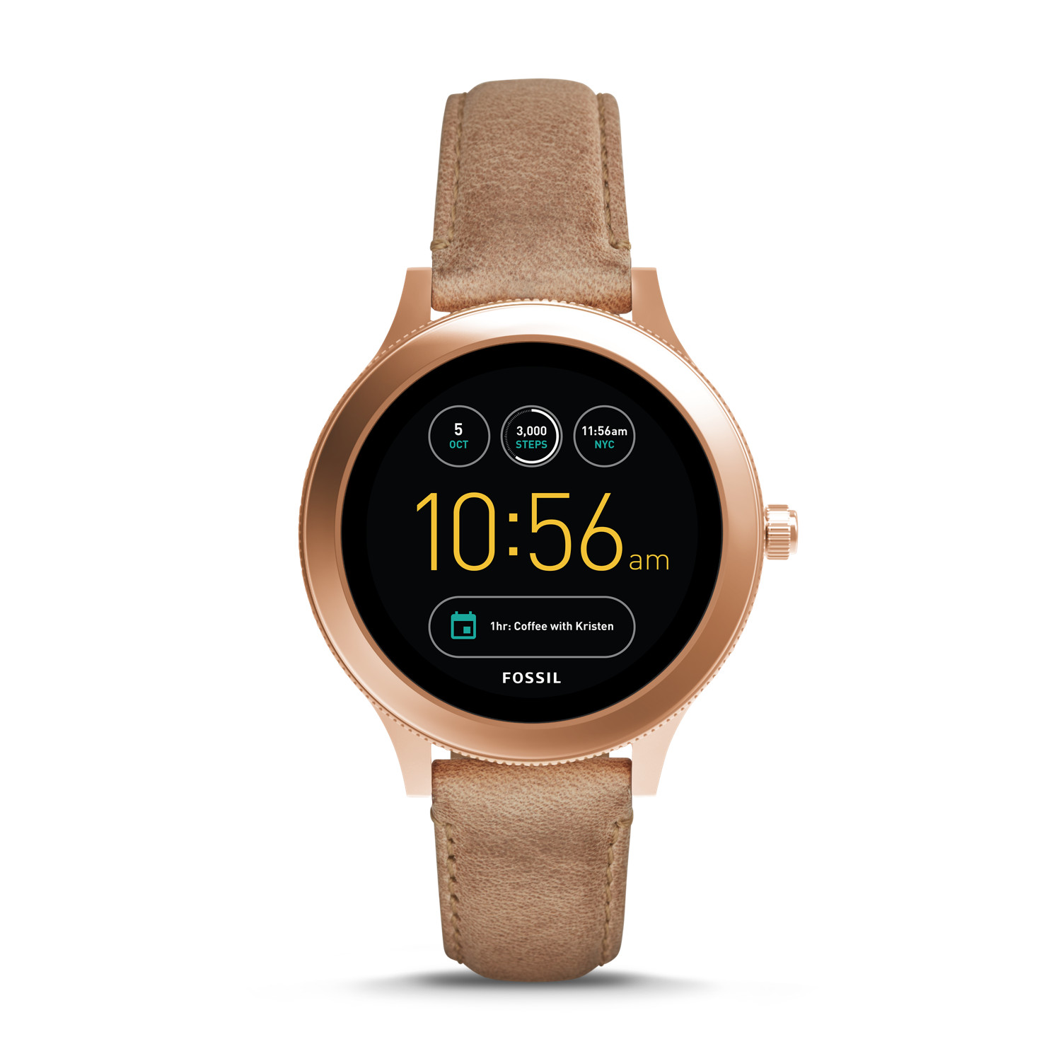 Gen 3 Smartwatch Venture Sand Leather Fossil