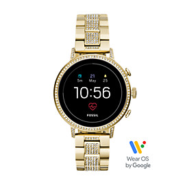 Gen 4 Smartwatch - Q Venture HR Gold-Tone Stainless Steel