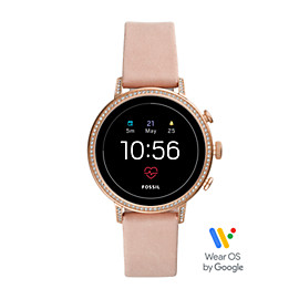 Gen 4 Smartwatch - Q Venture HR Blush Leather