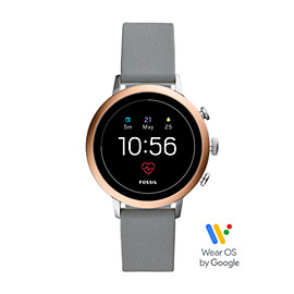 Gen 4 Smartwatch - Q Venture HR Gray Leather