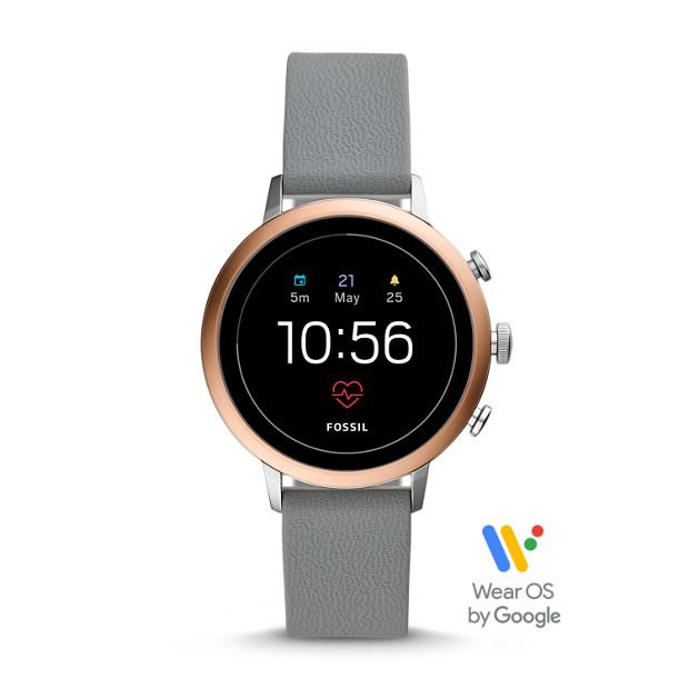 Gen 4 Smartwatch Venture Hr Gray Silicone Fossil