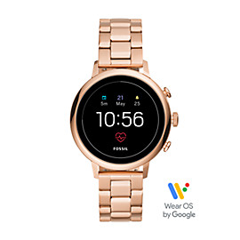 Gen 4 Smartwatch - Q Venture HR Rose-Gold-Tone Stainless Steel