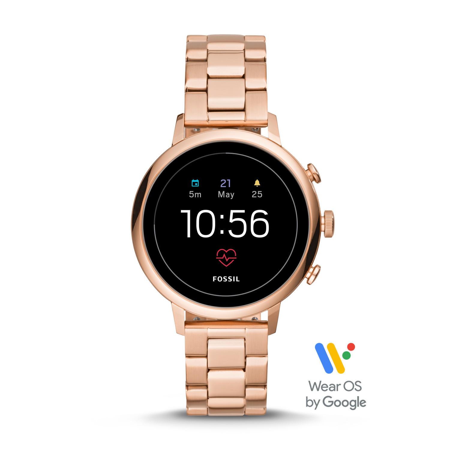 9325c57fc288 Gen 4 Smartwatch - Venture HR Rose Gold-Tone Stainless Steel - Fossil