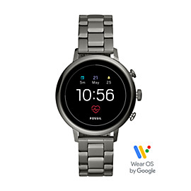 Gen 4 Smartwatch - Q Venture HR Smoke Stainless Steel