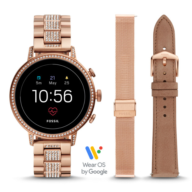 Gen 4 Smartwatch Venture Hr Rose Gold Tone Stainless Steel