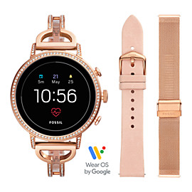 Gen 4 Smartwatch – Venture HR Rose-Gold-Tone Stainless Steel Interchangeable Strap Box Set