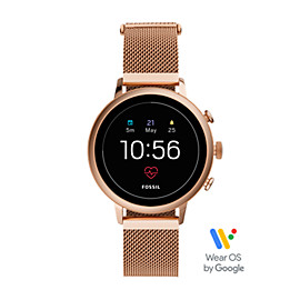 b2b3f08a77b Gen 4 Smartwatch - Venture HR Rose Gold-Tone Stainless Steel Mesh Connected  Icon