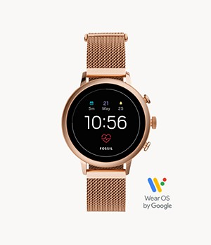 Gen 4 Smartwatch Venture HR Rose Gold-Tone Stainless Steel Mesh