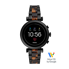 Gen 4 Smartwatch - Sloan HR Two-Tone Black and Tortoise Stainless Steel