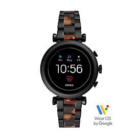 Damen Smartwatch Sloan HR - 4. Generation - Edelstahl/Acetat - Schwarz/Braun Multi