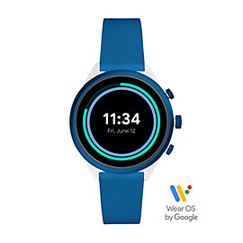 Fossil Sport Smartwatch 41mm Blue Silicone