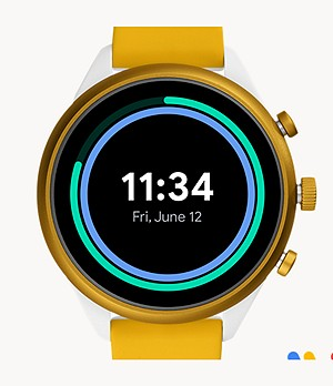 Fossil Sport Smartwatch 41mm Yellow Silicone
