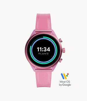 Fossil Sport 41mm Hot Pink Silicone